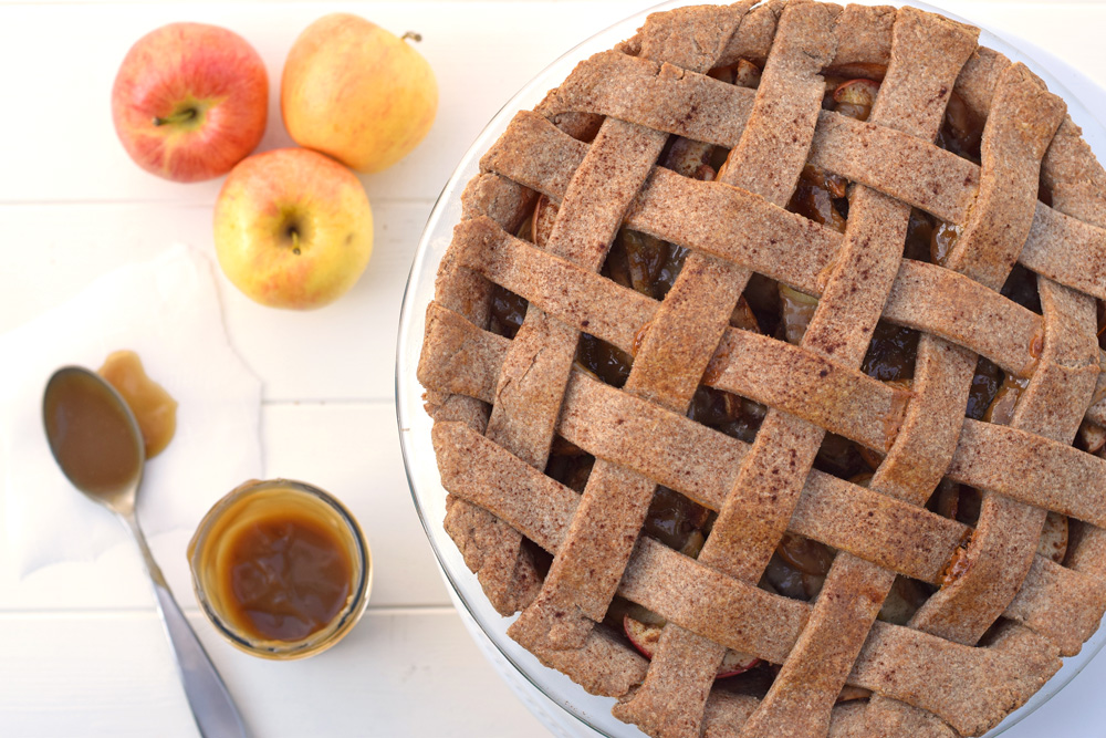Caramel Apple Pie. This pie will blow your mind and uses only the best quality healthy ingredients! www.superhealthykids.com