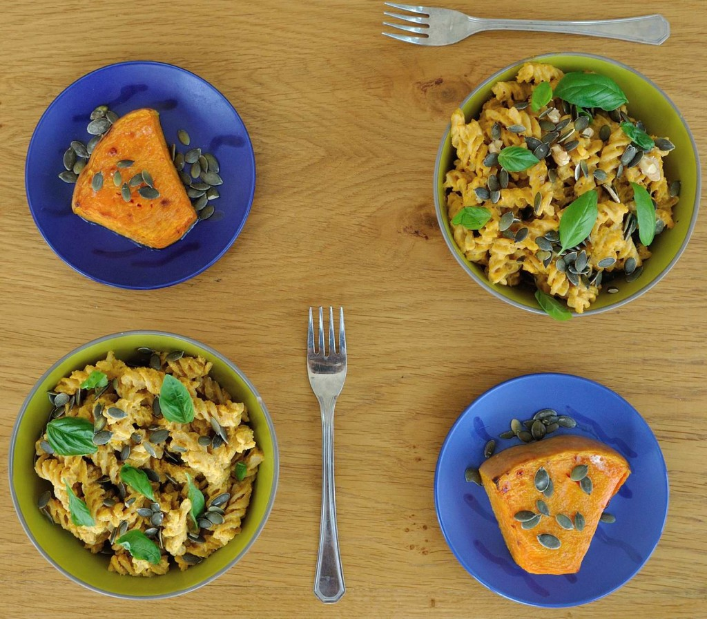 Creamy Cashew Pumpkin Pasta. If you have leftover pumpkin, make this recipe! www.superhealthykids.com