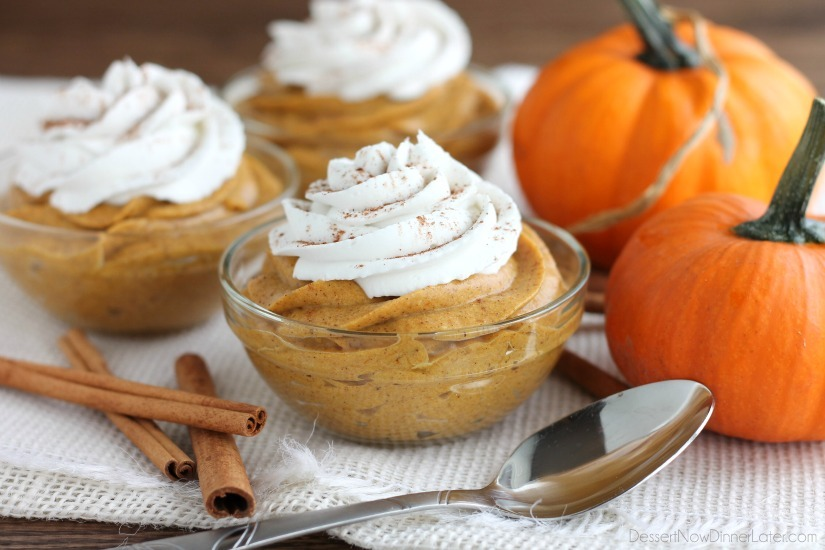 Pumpkin Mousse. So light, creamy and fluffy, this Pumpkin Mousse is a ...