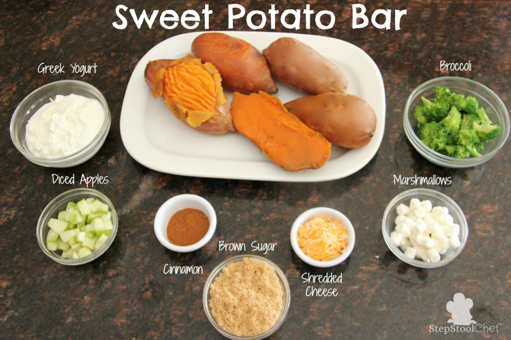 Sweet Potato Bar. This takes a potato bar to a whole new level. Totally different than any other potato bar you have tried before! www.superhealthykids.com