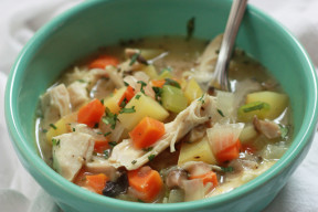 This Cozy Chicken Pot Pie Soup is one you'll make over and over again. Gluten free, dairy free, and absolutely delicious.