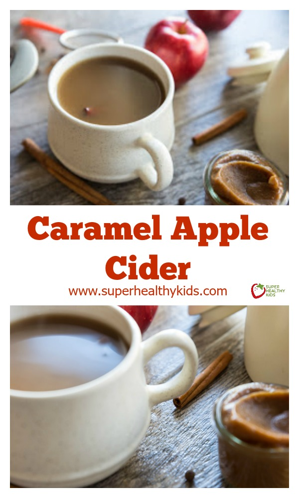 Caramel Apple Cider. You won't want to miss this delicious recipe for the holidays. A sweet comforting mug of wonderful deliciousness! http://www.superhealthykids.com/caramel-apple-cider/