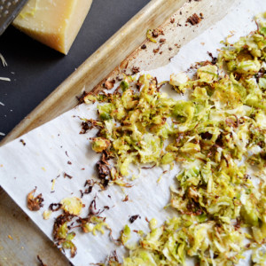 Perfectly Crunchy Parmesan Brussels Sprouts