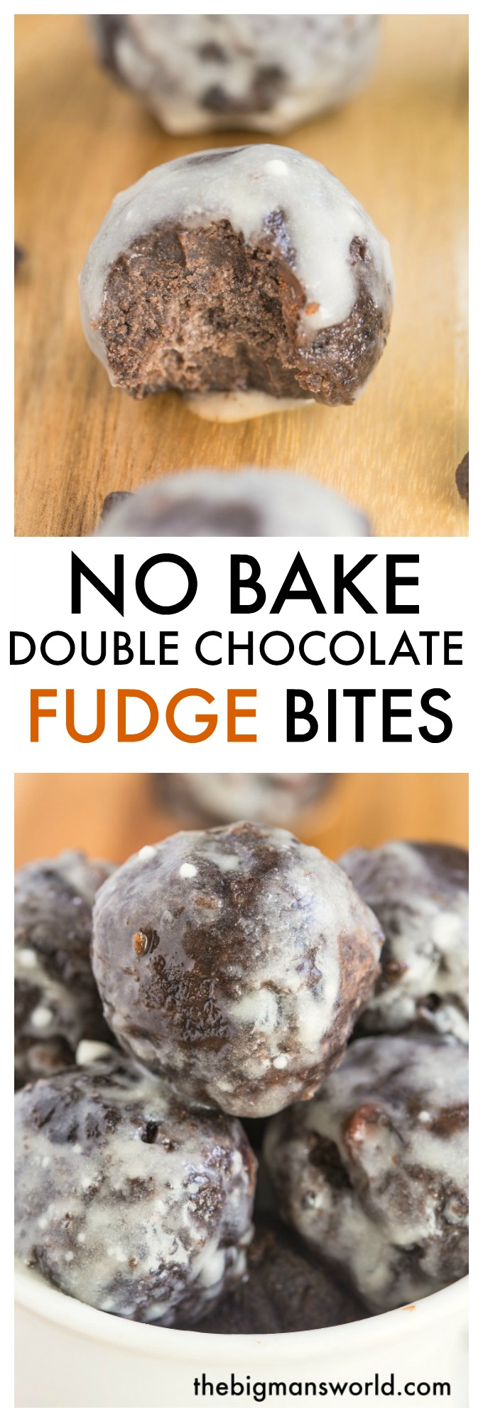 No Bake Double Chocolate Fudge Bites. These healthy no-bake double chocolate bites are delicious, packed full of wholesome ingredients and are a better sweet snack to enjoy over something packaged.