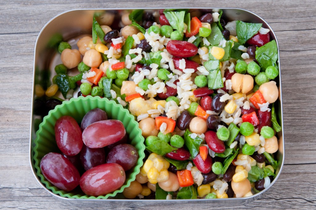 Fruits, Nuts, Beans And Rice Salad Recipe — Dishmaps