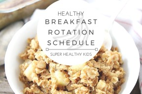 HEALTHY BREAKFAST ROTATION SCHEDULE! Do you struggle with knowing what to eat every morning? Want a fun way to involve the whole family at breakfast time? With this handy rotation schedule each day of the week brings a fun new breakfast idea! You'll never run out of ideas on healthy ways to start your day & you'll break the fast in the most nutritious way!