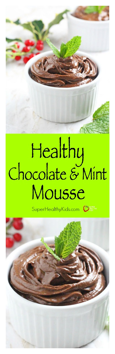 Healthy Chocolate & Mint Mousse