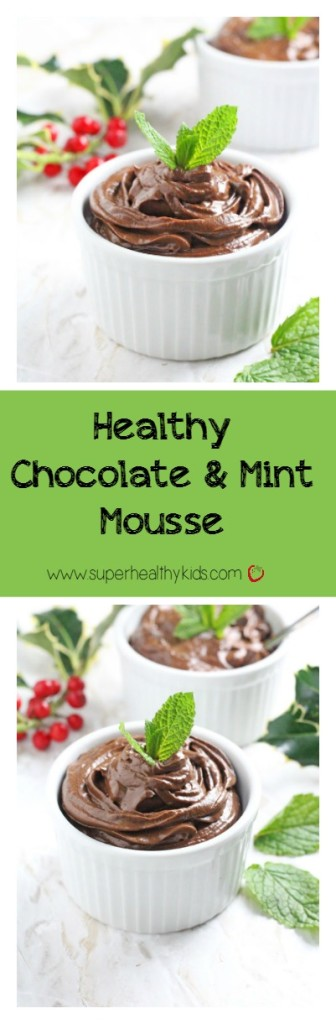 Smooth, creamy chocolate mousse perfect for any kind of event or just dessert! www.superhealthykids.com