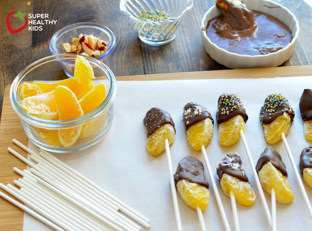 Chocolate Dipped Oranges! Simple steps to your kids next favorite kitchen activity