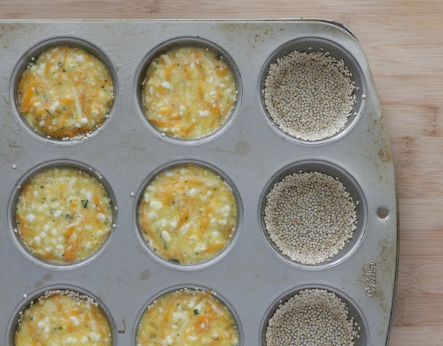 Quick Quinoa Crusted Quiche Recipe. These hearty muffins will fill your kids up until lunch and give them lots of great protein and vitamins! www.superhealthykids.com