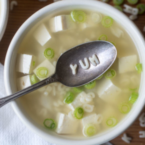 Healthy and easy Miso Alphabet Soup