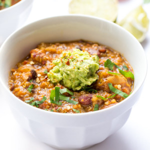 One-Pot Pumpkin Quinoa Chili