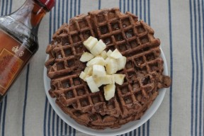 easy to make cocoa banana waffles