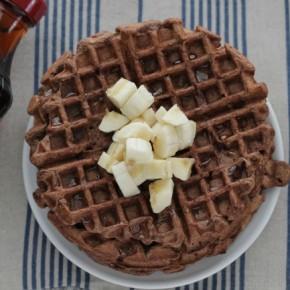 easy to make cocoa banana waffles