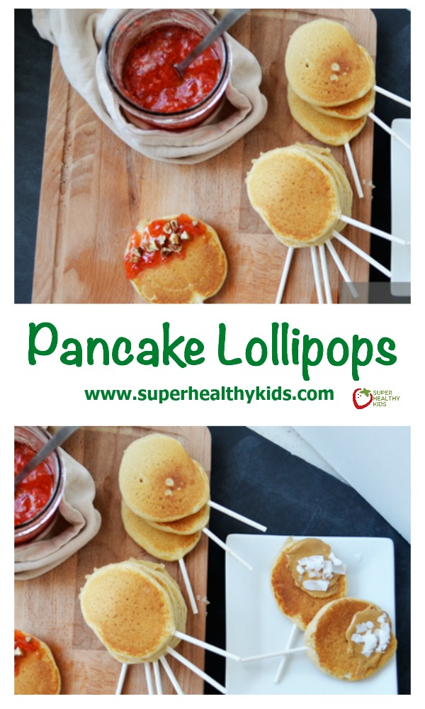 Pancake Lollipops. You'll love how easy it is to turn a boring pancake into a treat with nothing more than this! http://www.superhealthykids.com/never-get-tired-pancakes-pancake-lollipops/