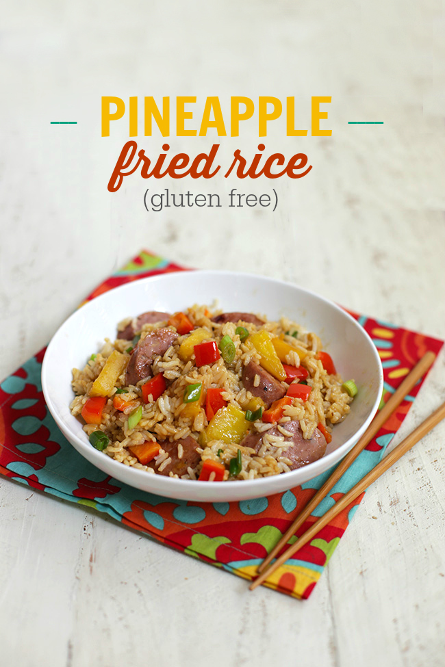 This Pineapple Fried Rice is a colorful twist on an old favorite. Your kids will gobble it up! www.superhealthykids.com
