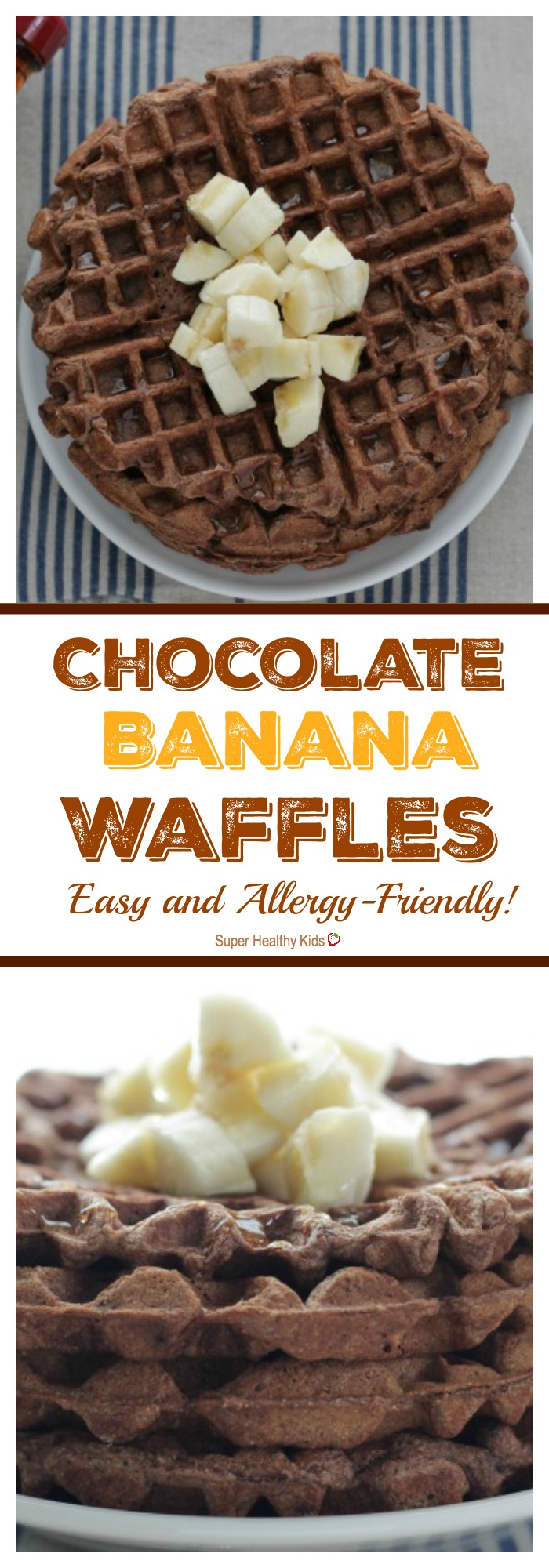 Chocolate Banana Waffles: Easy and Allergy-Friendly!   Healthy ...