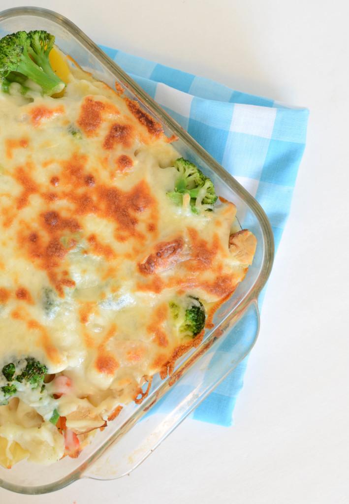 Creamy Chicken and Veggie Pasta Bake