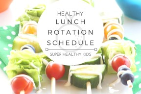 HEALTHY LUNCH ROTATION SCHEDULE! Do you struggle with knowing what to eat every day for lunch? Want a fun way to involve the whole family at lunchtime? With this handy rotation schedule each day of the week brings a fun new lunch idea! You'll never run out of ideas on healthy ways to break up your day & you'll satisfy your hunger in the most nutritious way!