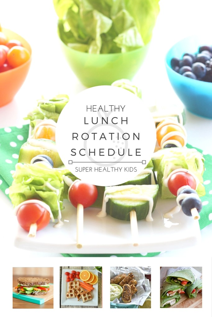 MEAL PLANNING - HEALTHY LUNCH ROTATION SCHEDULE! Do you struggle with knowing what to eat every day for lunch? Want a fun way to involve the whole family at lunchtime? With this handy rotation schedule each day of the week brings a fun new lunch idea! You'll never run out of ideas on healthy ways to break up your day & you'll satisfy your hunger in the most nutritious way! http://www.superhealthykids.com/healthy-lunch-weekly-planner/