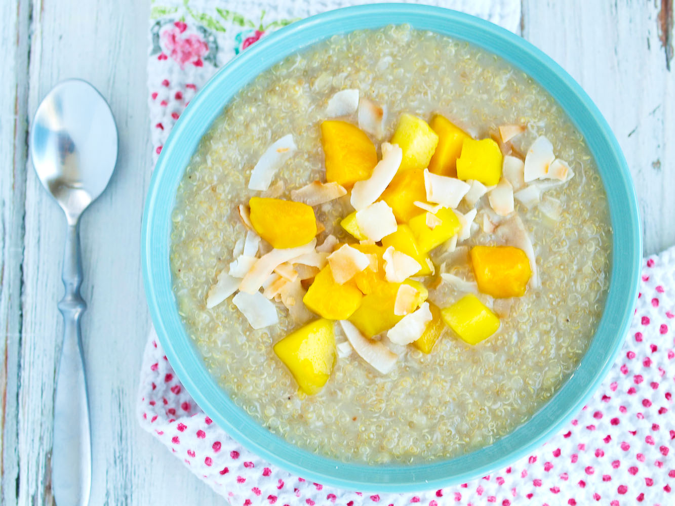 Quinoa Breakfast with Mango and Coconut | Healthy Ideas for Kids