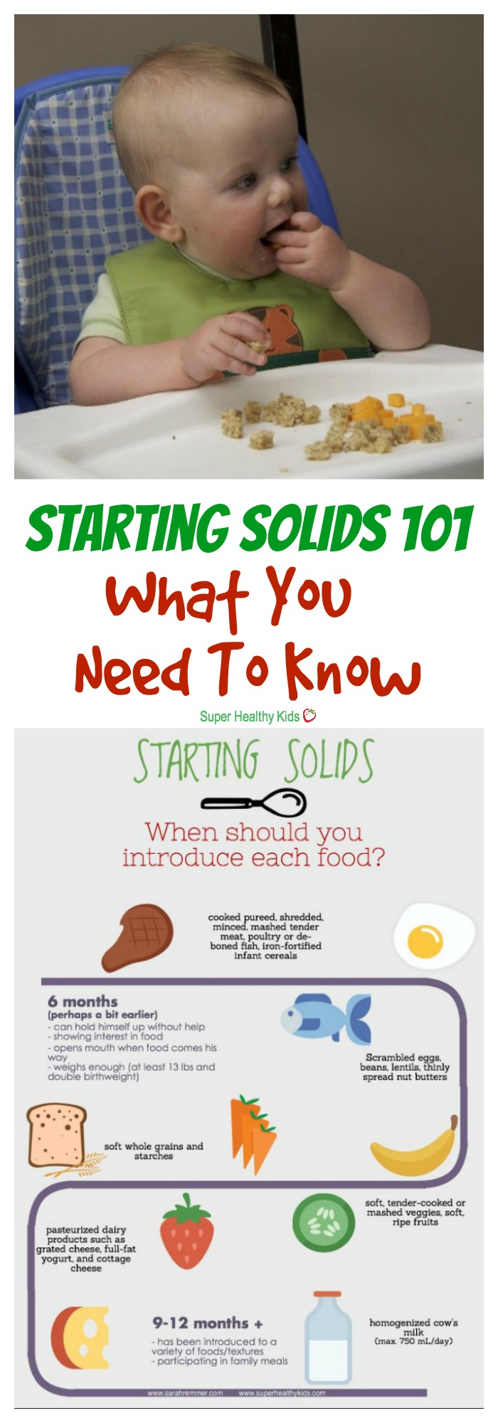 MOM TIPS - Starting Solids 101: What You Need to Know. Starting solids can seem overwhelming at first. Here's what you need to know--straight from a registered dietitian and mom. http://www.superhealthykids.com/starting-solids-101-need-know/