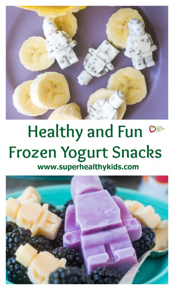 FOOD - Healthy and Fun Frozen Yogurt Snacks. Make your own healthy frozen yogurt snacks in shapes your kids love!
