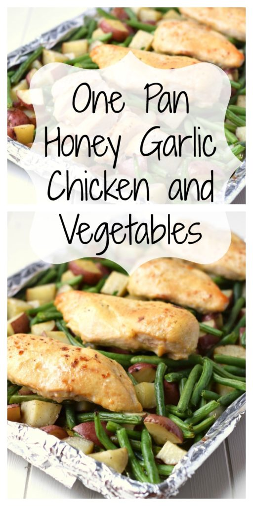 One Pan Honey Garlic Chicken and Vegetables