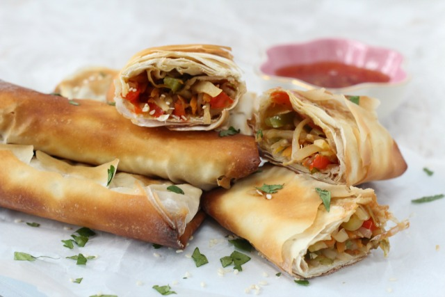 Baked Vegetable Spring Rolls Recipe Healthy Ideas For Kids