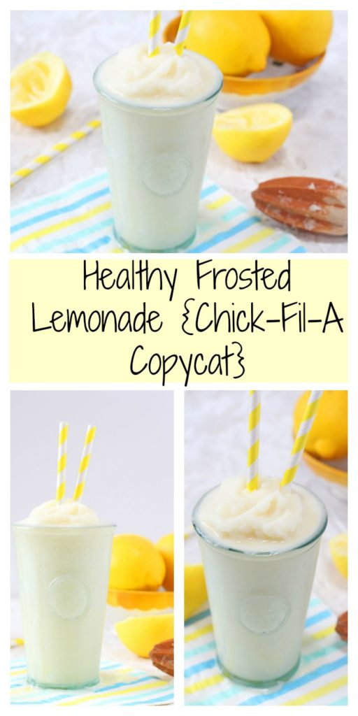 Healthy Frosted Lemonade {Chick-Fil-A Copycat}
