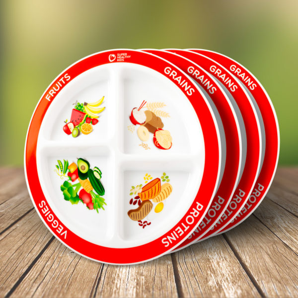 MyPlate Kids Divided Plate 4 Pack
