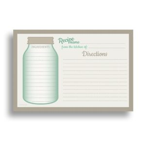 Water Resistant Recipe Cards
