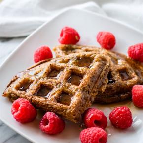 chocolate Banana rice gluten free Waffles - ( dairy free)