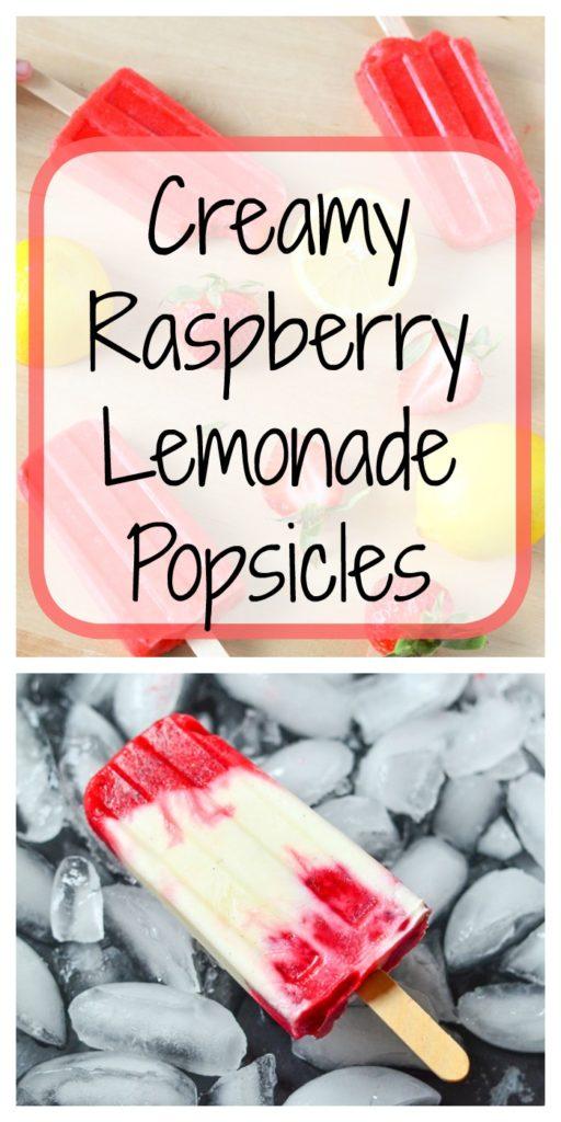 Creamy Raspberry Lemonade Popsicles