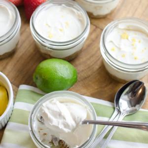 Easy Healthy No-Bake Mini Cheesecakes