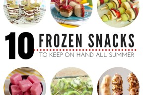 10 Frozen Snacks To Keep On Hand All Summer | This is the list you need to keep handy all summer long, great healthy snacks great for adults and kids alike!