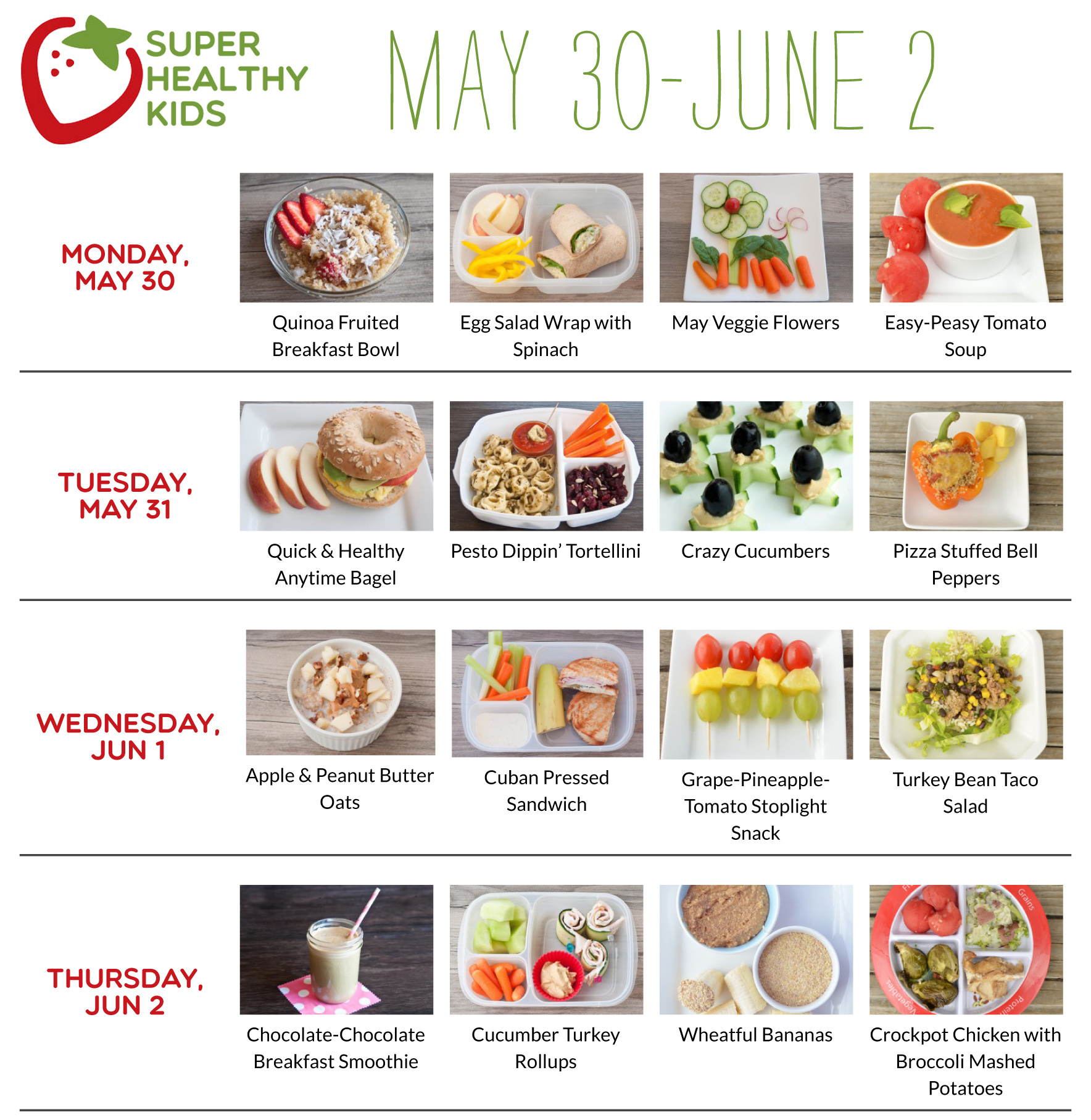 May 30-June 5 | Super Healthy Kids