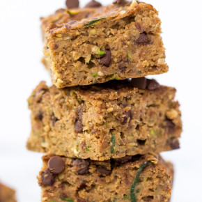 Zucchini Chocolate Chip Protein Bars -- kid-friendly, allergy-friendly and absolutely delicious!