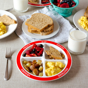 Healthy Balanced Breakfast with MyPlate