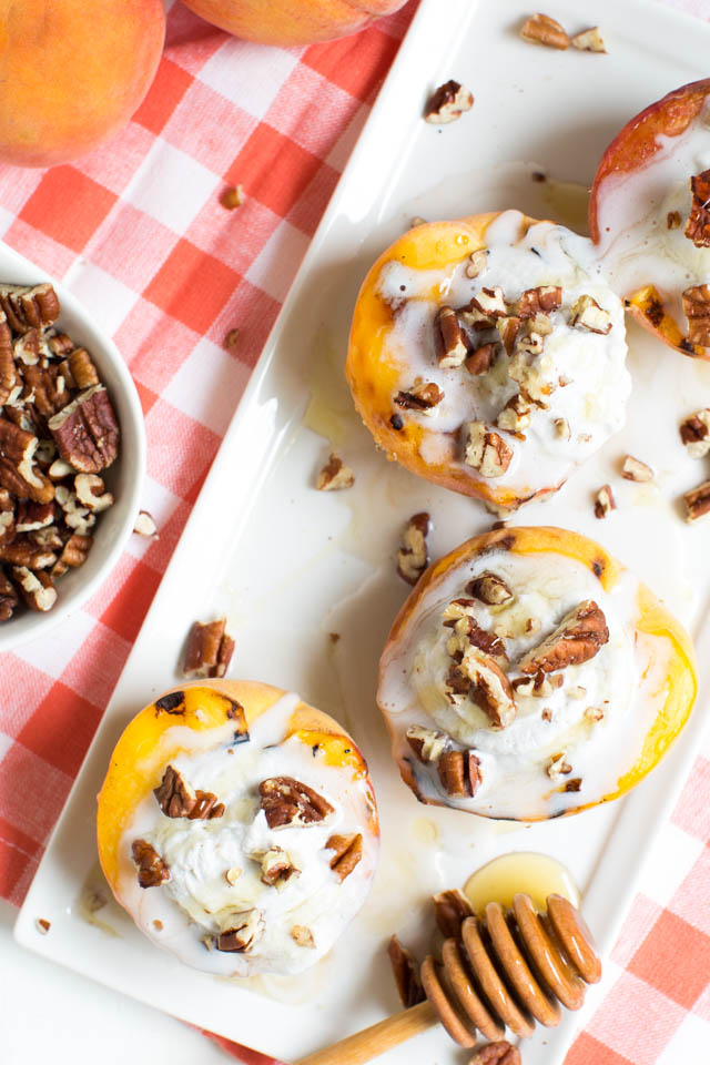 Grilled Peaches and Coconut Cream is a tasty dessert made with only a few ingredients!