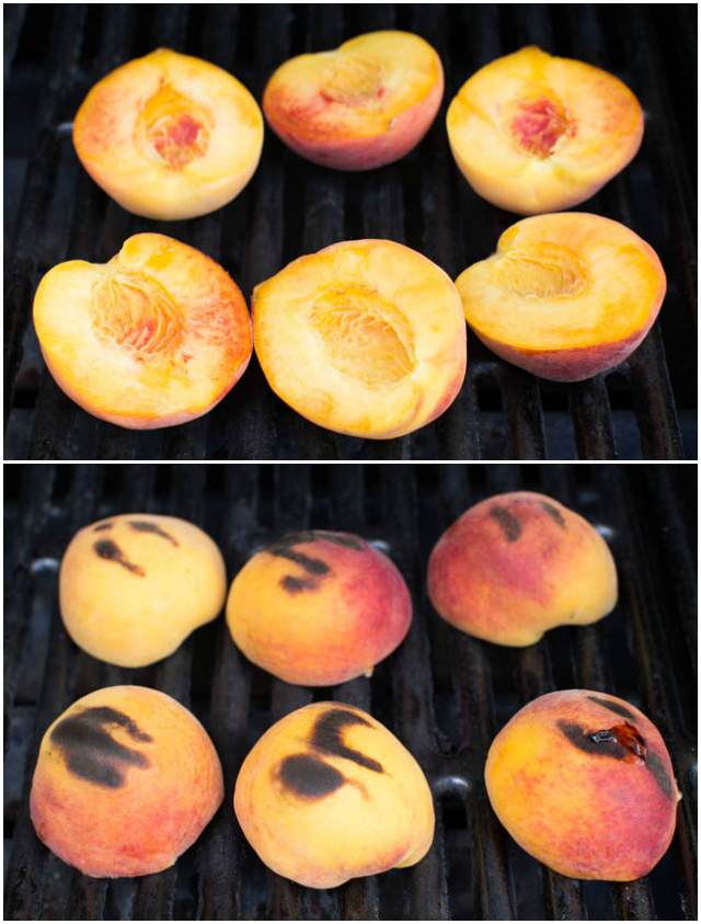 Grilled Peaches and Coconut Cream is a tasty dessert made with only a few ingredients! www.superhealthykids.com
