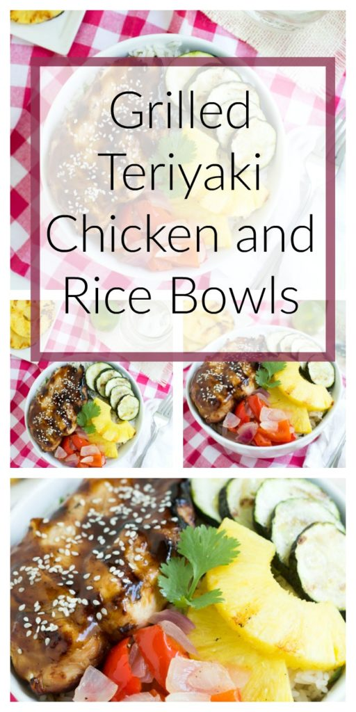 Grilled Teriyaki Chicken and Rice Bowls