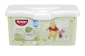 Huggies Natural Care Baby Wipes, Tub, 64 Wipes, Unscented, Hypoallergenic, Aloe and Vitamin E