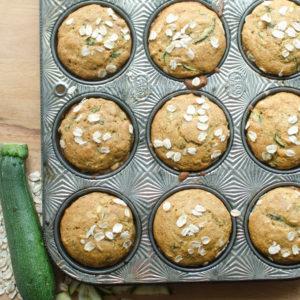 Healthy Zucchini Oat Muffins
