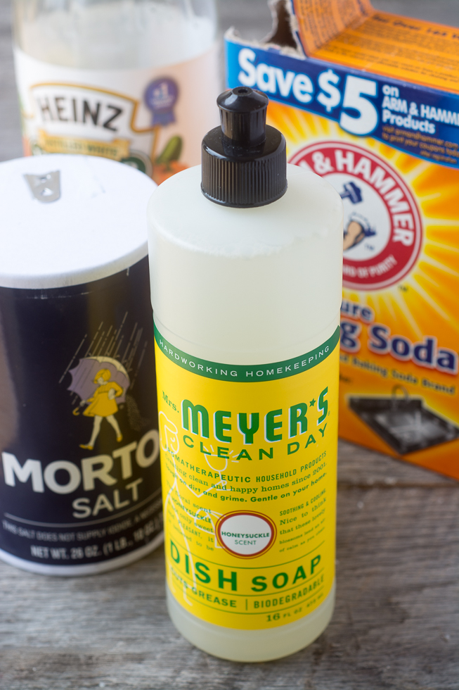 All natural ingredients for making your own DIY Dishwasher Pods