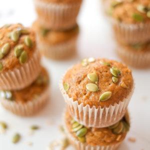 Maple-Oat Pumpkin Muffins Recipe