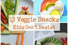 13 veggie snacks for  kids collage