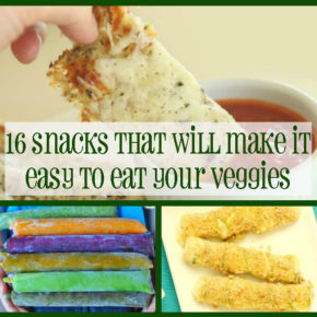16 veggie snacks square