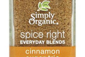 Simply Organic Spice Right Organic Everyday Seasoning Blends, Cinnamon Sugar Trio, 3.1 Ounce