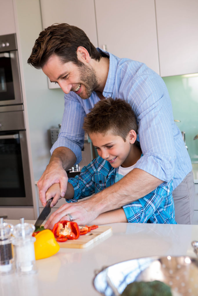 When should your child start using a knife in the kitchen?